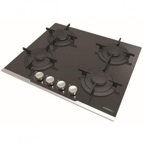 Rosières TABLE Manettes - Frontal - 7000 W - Grilles : Fonte - Sublime - Noir ROSIERES - RGV64TFBPN