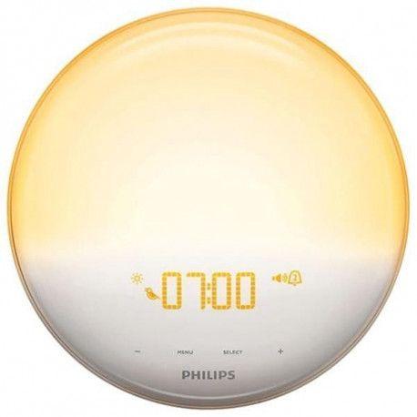Philips EVEIL LUMIERE VEILLEUSE ET GUIDE DE NUIT LED ECRAN TACTILE RADIO REVEIL PHILIPS - HF3531.01
