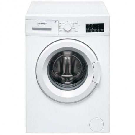 BRANDT Machine a laver -WF129L - 9kg - 1200 tr/min - Blanc