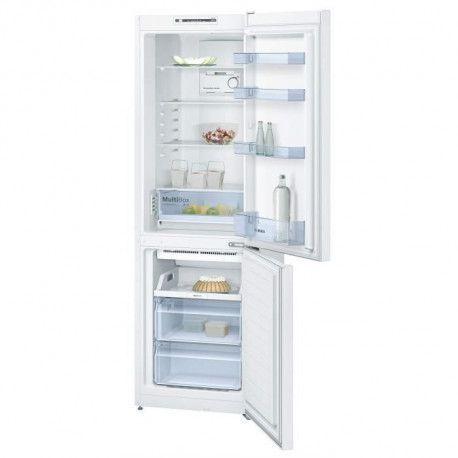 BOSCH KGN36NW30 - Refrigerateur combine - 302 L 215 + 87 L - Froid no frost brasse - A++ - L 60 x H 186 cm - Blanc