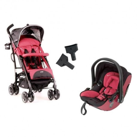 KIDDY Poussette Combinee Duo CityNMove + Cosy Evolution Pro 2 Cranberry