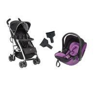 KIDDY Poussette Combinee Duo CityNMove + Cosy Evolution Pro 2 Lavender