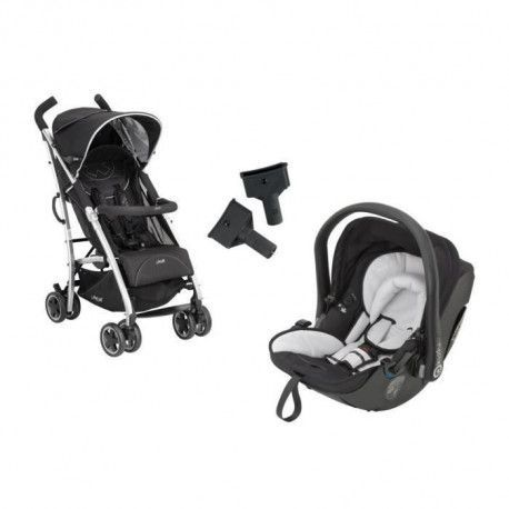KIDDY Poussette Combinee Duo CityNMove + Cosy Evolution Pro 2 Stone