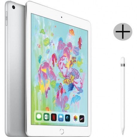 iPad 9,7 Retina 32Go WiFi - Gris Sideral - 6eme Generation + Apple Pencil Stylet