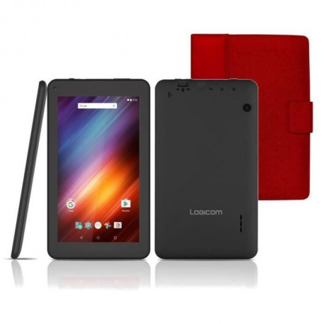 LOGICOM Tablette tactile TAB 744P 7 1024 x 600 - RAM 1 Go - Android 6.0 - Quad-core - Stockage 8Go + PORT Etui universel Phoenix