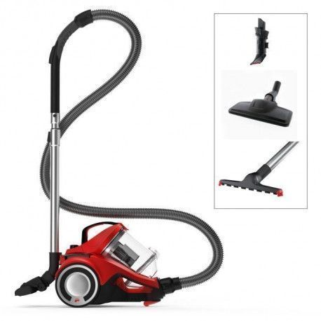 DIRT DEVIL Aspirateur sans sac DD 2425-1 - REBEL 35 PARQUET - 4A - Rouge metallise