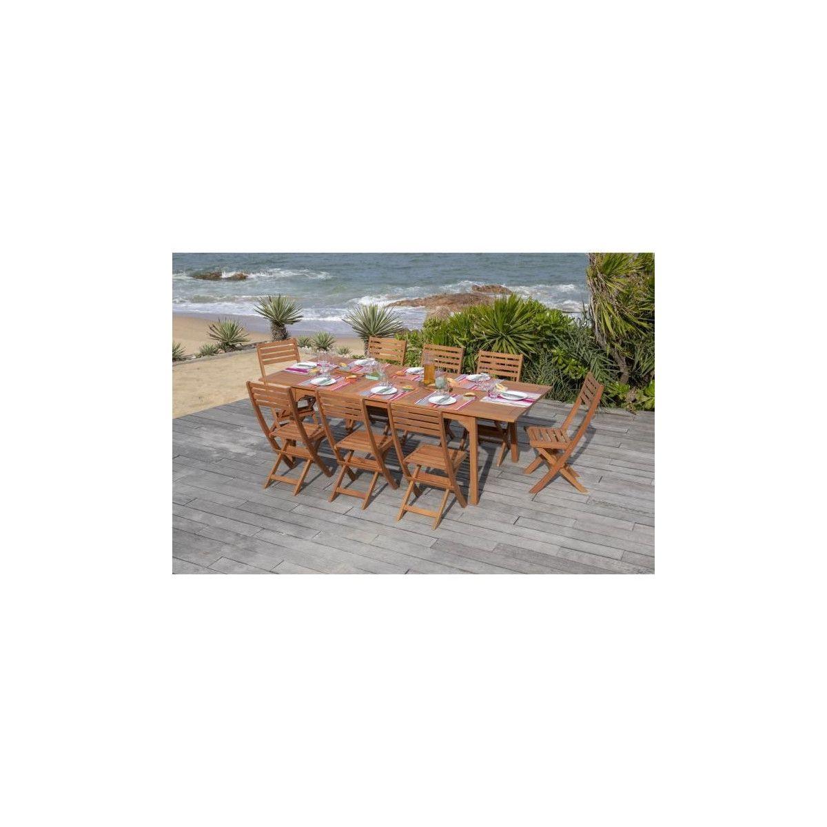 En Pliantes 8 Table Et Extensible Places Chaises Eucalyptus CrdBWoex