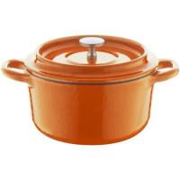 BERNDES Cocotte a rotir avec couvercle Specials Fonte - O 10 cm - Orange