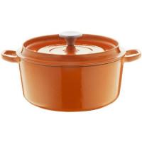 BERNDES Cocotte a rotir avec couvercle Specials Fonte - O 24 cm - Orange