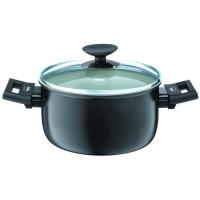 BERNDES Casserole avec couvercle Clever Alu Special Elegance - O 16 cm - Noir et transparent