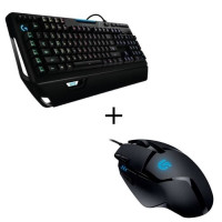Pack Logitech Clavier Gaming G910 + Souris Gaming G402
