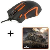 Souris Gamer Filaire M-45 + tapis de Souris Gamer MP-10 Konix World Of Tanks