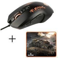 Souris Gamer Filaire M-30 + tapis de Souris Gamer MP-10 Konix World Of Tanks