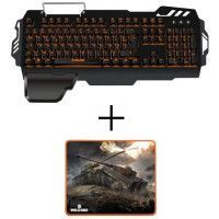 Clavier gamer K-50 S/MK + tapis de Souris Gamer MP-10 Konix World Of Tanks