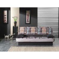 COCO Banquette clic-clac - 3 places - 190x89x90 cm - Tissu polyester - Imprime Amsterdam