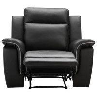 COCOON Fauteuil de relaxation - Simili noir - Contemporain - L 108 x P 96 cm