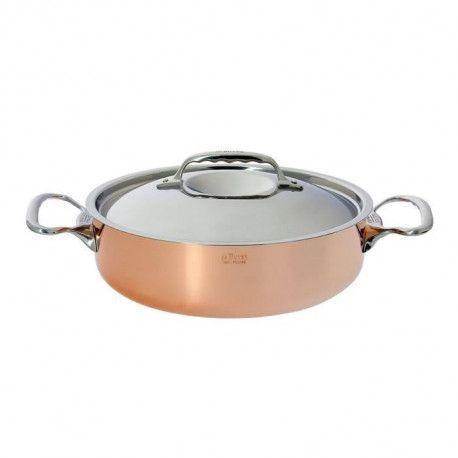 DE BUYER Sautoir cuivre inox - O 28 cm - Cuivre et inox - Tous feux sauf induction