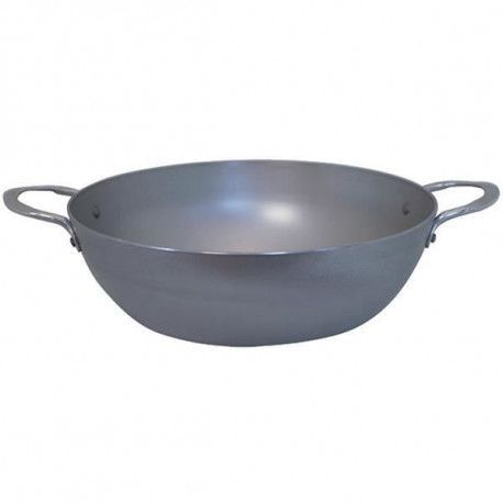 DE BUYER Poele paysanne mineral b element a 2 anses- O 32 cm - Gris - Tous feux dont induction
