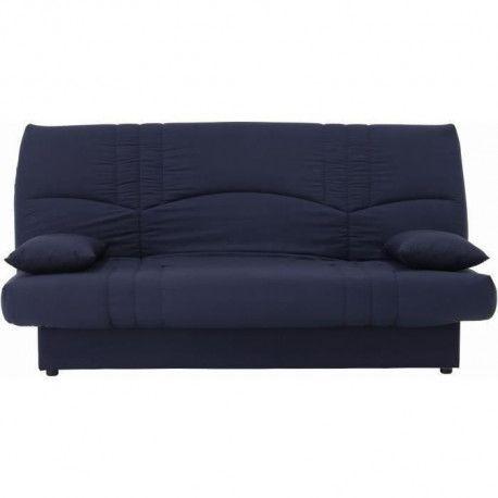 DREAM Banquette clic clac 3 places - Tissu bleu fonce - Slyle contemporain - L 190 x P 92 cm