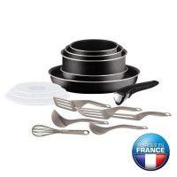 TEFAL INGENIO ESSENTIAL Batterie de cuisine 15 pieces L2009202 16-18-20-26 cm Tous feux sauf induction
