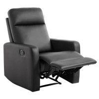 RELAX Fauteuil de relaxation manuel - Simili noir - Classique - L 76 x P 88 cm