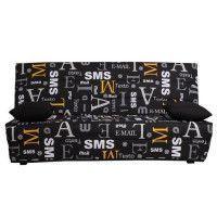 SPLOT Banquette clic clac 3 places - Tissu motif SMS - Style contemporain - L 190 x P 95 cm