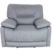 ARTHUS Fauteuil de relaxation electrique en tissu gris clair - Classique - L 112 x P 98 cm