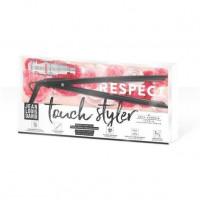 JEAN LOUIS DAVID Touch Styler 39999 - Lisseur tactile futuriste - Ceramique - Plaques flottantes - 11 Temperatures - Gris irrise