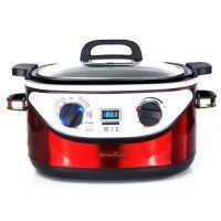 KITCHEN COOK - COOKOTTERED - Multicuiseur 8 en 1 - 5,6L - 1350W - 120-220?C - Inox Rouge