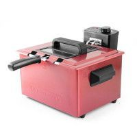 KITCHEN COOK -FR5050_INOX_RED - Friteuse Semi-Pro - 2000W - 5L - Cuve en Inox - Rouge