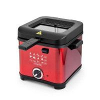 KITCHEN COOK -FR1010_RED - Friteuse - 1,5L - 900W - Rouge