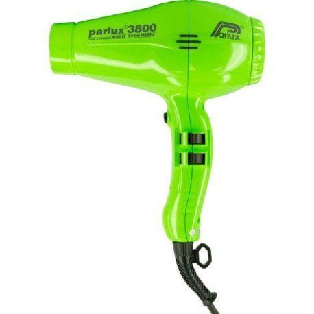 PARLUX Seche-cheveux - 3800 Ionic Eco Friendly - Debit dair 75 m3/h - 2100 W - Vert