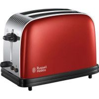 RUSSELL HOBBS 23330-56 - Toaster Colours Plus - Technologie Fast Toast - Rouge