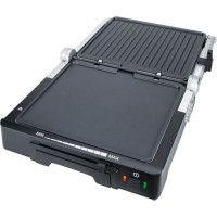 STEBA 187000 FG70 Grill de contact - 1800 W - Surface de cuisson antiadhesive: 2 x 27 x 24 cm - Inox et noir