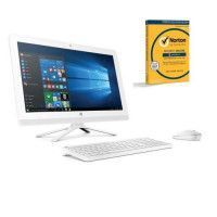 HP PC Tout en un - 22b000nf - Blanc - 21,5 FHD- 4Go de RAM - Windows 10 - Intel Core i3- Intel HD 520- Disque Dur 2To + Norton