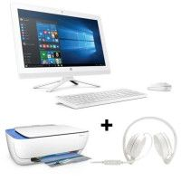Pack HP PC Tout en un-22b000nf - Blanc - 21,5- 4Go de RAM - Windows 10 -Core i3- Intel HD 520-2To+ Casque stereo+imprimante