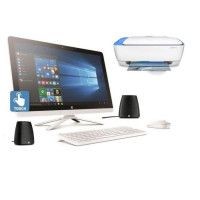 HP PC tout en un tactile 24- 24g006nf - 4Go de RAM- Windows 10- Intel Core I5- Intel HD- Disque dur 1To + imprimante 3en1+encein