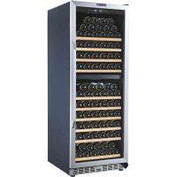 LA SOMMELIERE MZ2V135 - Cave a vin de vieillissement DOUBLE ZONE , 135 bouteilles, 1 porte vitree, 9 clayettes coulissantes bois