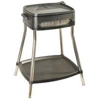 BBQ PIEDS 2000W GRILLE FONTE ALU TH° 5POSITIONS COUVERCLE 41X36CM KITCHENCHEF - KCPBBQ0906