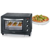 MINI FOUR 20L 1500W PLAT 30CM MINUTEUR PIERRE A PIZZA NOIR INOX SEVERIN - 9560