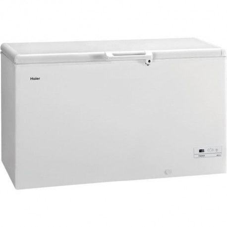 HAIER - BD429RAAE - Congelateur coffre - 429L - Froid Statique - A+ - L141cm x H84,5cm - Blanc