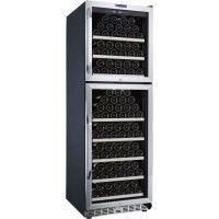 LA SOMMELIERE MZ2V165 - Cave a vin de mise en temperature -DOUBLE ZONE , 165 bouteilles, 2 portes vitrees, 8clayettes, classe B