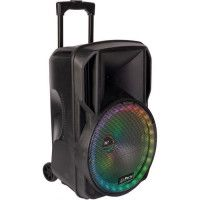 PARTY LIGHT + SOUND 15-6115PLS Enceinte portable 12 / 30 cm - USB, Micro SD, BT, FM, Micro VHF + telecommande