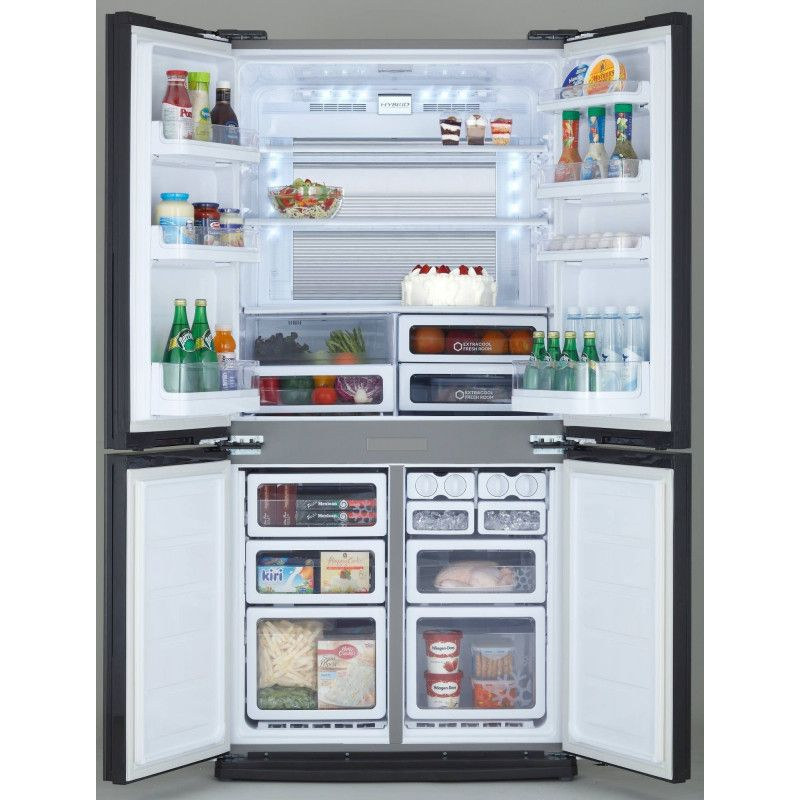 Sharp sjex820fsl r frig rateur am ricain 4 portes inox sharp for Refrigerateur americain 4 portes