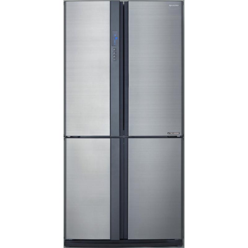 Sharp sjex820fsl r frig rateur am ricain 4 portes inox sharp for Refrigerateur americain miroir