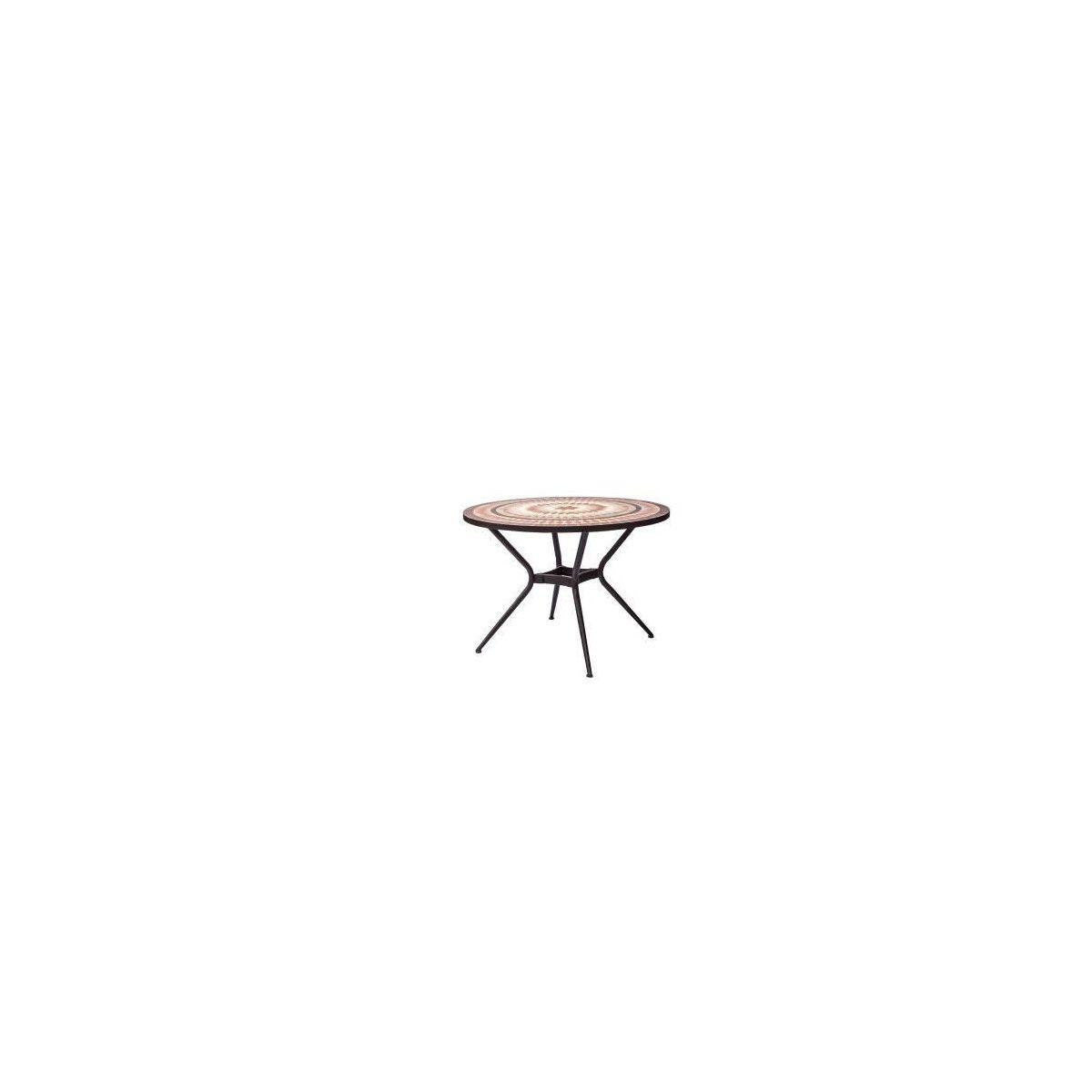 Meuble de jardin - Table de jardin acier et mosaique en ...