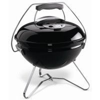 WEBER Barbecue a charbon portable Smokey Joe Premium O37 cm - Acier chrome - Noir