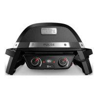 WEBER Barbecue electrique Pulse 2000 - Fonte dacier emaillee - Noir