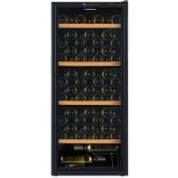 LA SOMMELIERE CVD95-Cave a vin de mise a temperature vitree-Noir-95 bouteilles-3 clayettes bois + 1 demi clayette en bas de cave