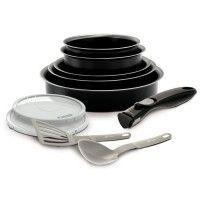 BACKEN EASYCOOK Batterie de cuisine 10 pieces - O 16-18-20-22-26 cm - Noir